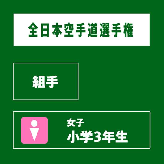 【全日本空手道選手権】 組手 女子 小学3年生