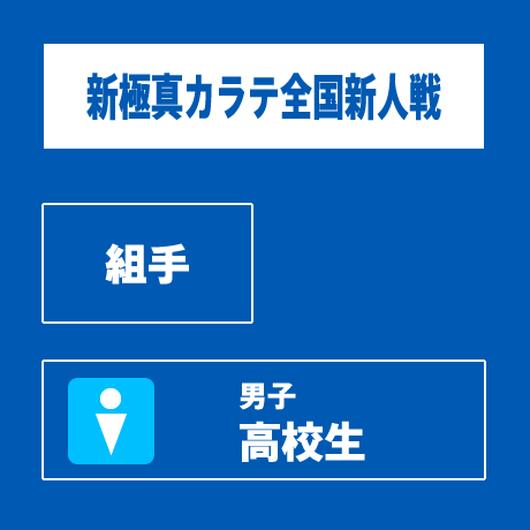 【新極真カラテ全国新人戦 】 組手 男子 高校生