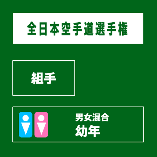 【全日本空手道選手権】 組手 男女 幼年混合