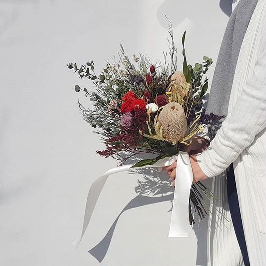 wedding bouquet&boutonniere#バンクシア