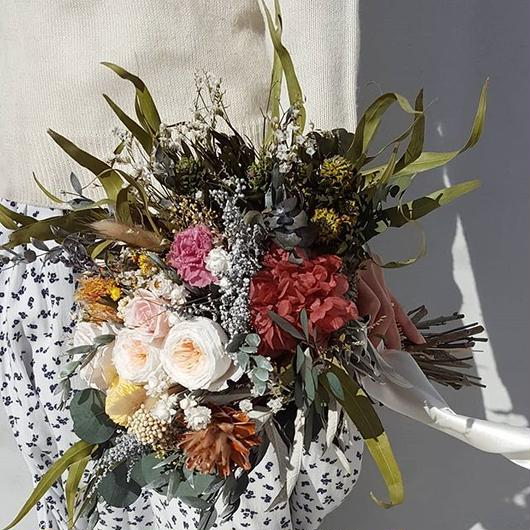 wedding bouquet&boutonniere#アンティークピーチ