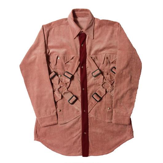 HEIHEI 17AW ダブルパラシュートシャツ PINK