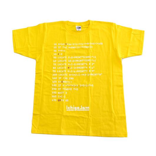 IchigoJam BASIC Tシャツ(黄系)