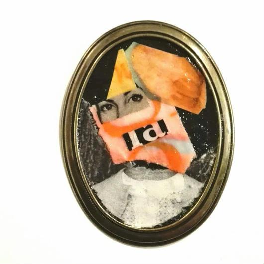 【dib】collage brooch