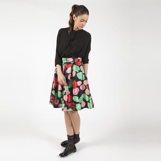 【SALE】【TVドラマ衣装提供】 Flower Printed Skirt HS7106