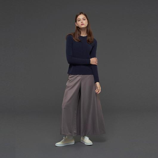 【SALE 】Satin-effect wide pants HP10114
