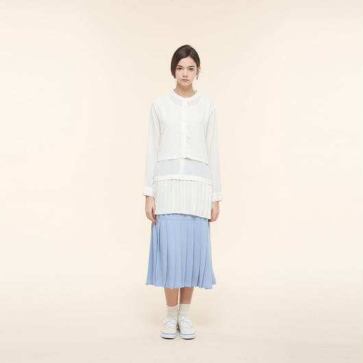 【SALE】Layered Pleated Shirt HB9101