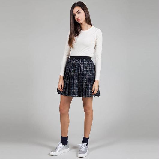 【SALE 】Bouclè and lurex insert skirt HS8122