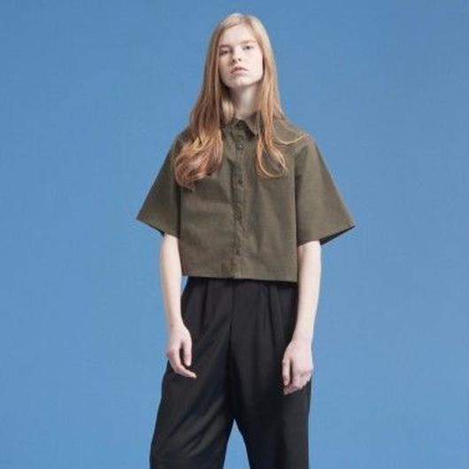 Cotton-Linen Cropped Shirt HC11104