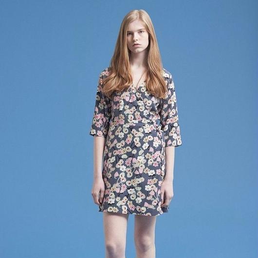 Floral print wrap dress HD11110