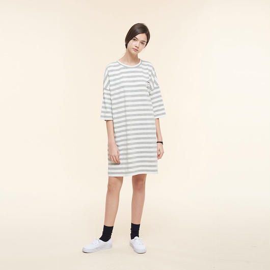 【SALE】Striped maxi t-shirt  HT9119