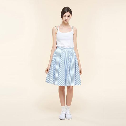 【SALE】Cotton striped skirt HS9106