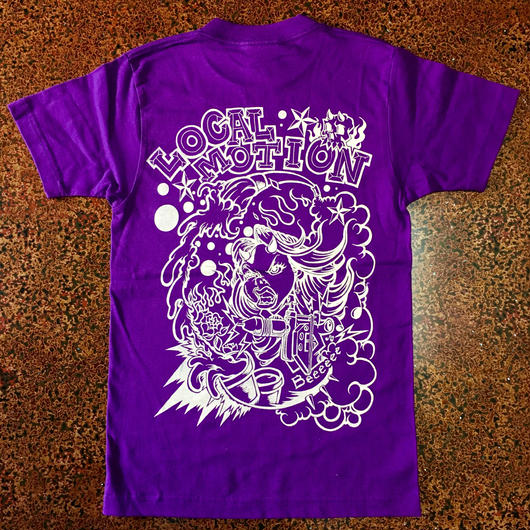 LOCAL MOTION T-shirt  Purple