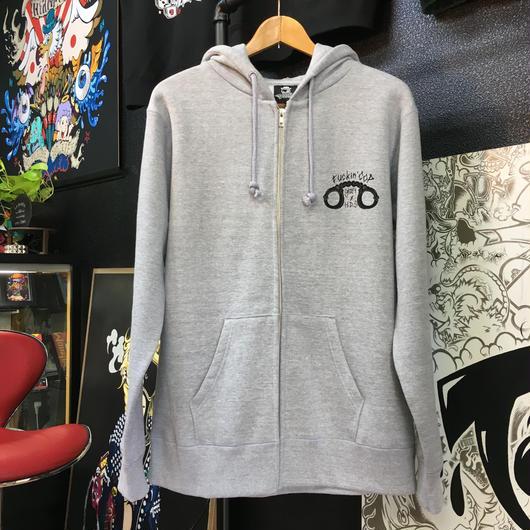 fuckin'  cop full zip hoodie GRAY