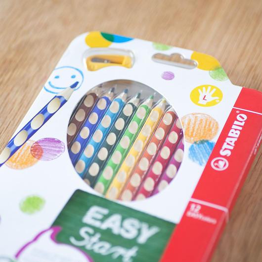 STABILO Easy colors 色鉛筆 12色セット・左手用(左利き用)