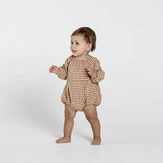 Rylee&Cru / Bubble Romper - Gingham