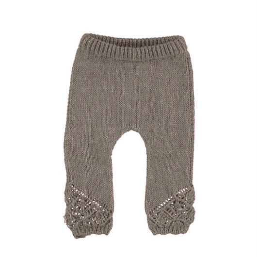 tocoto vintage / KNITTED LEGGINS - BROWN