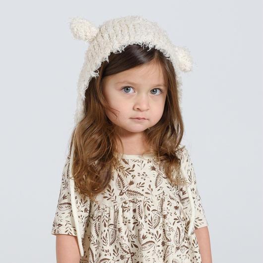 Rylee + Cru / Furry lamb hat - vanilla