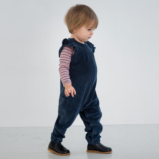 Serendipity Organics / Baby Velour Flair Suit - Midnight