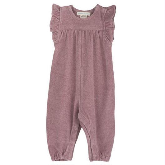 Serendipity Organics / Baby Velour Flair Suit - Woodrose
