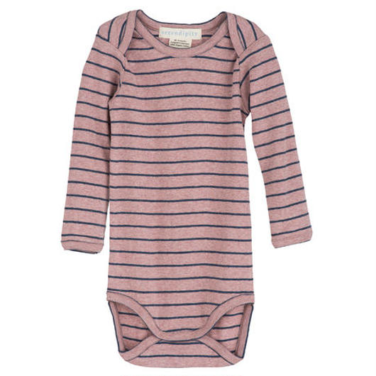 Serendipity Organics  / Baby Body Stripe -  Woodrose / Midnight