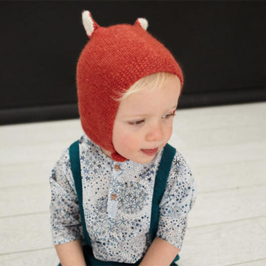 Olivier Baby & Kids / Animal Cashmere Bonnet - Fox