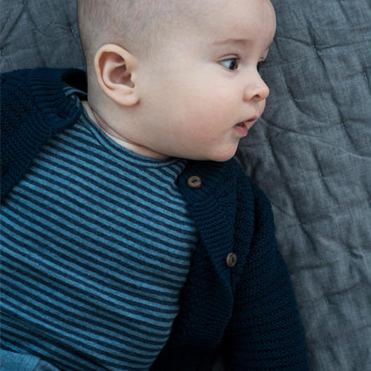 Serendipity Organics / Baby Body Stripe -  Midnight / Wave
