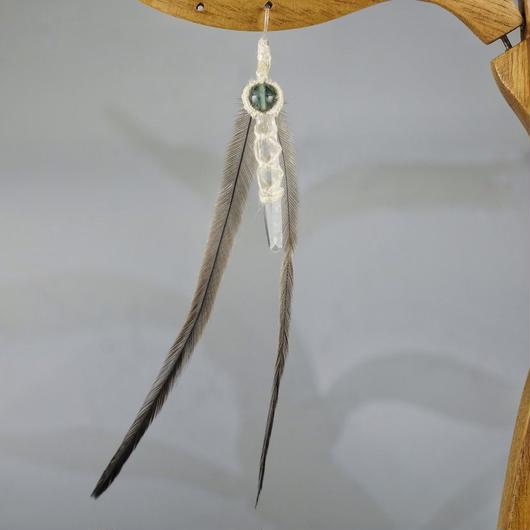 ヒマラヤ水晶 ピアス マニカラン産 羽ピアス (フローライト)