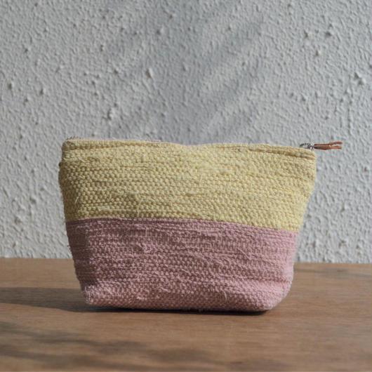 大谷房子 裂き織りのポーチ