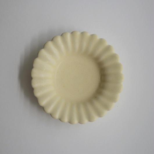 Awabi ware ひまわり豆皿 アイボリー