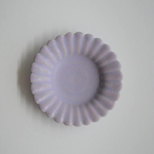 Awabi ware ひまわり豆皿 パープル