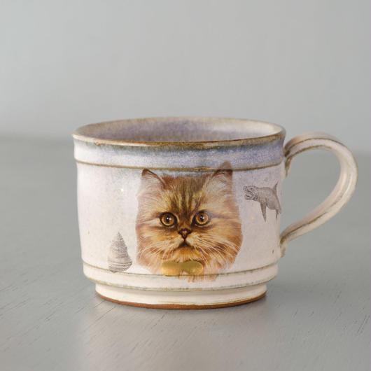 魚猫マグカップ ペルシャ