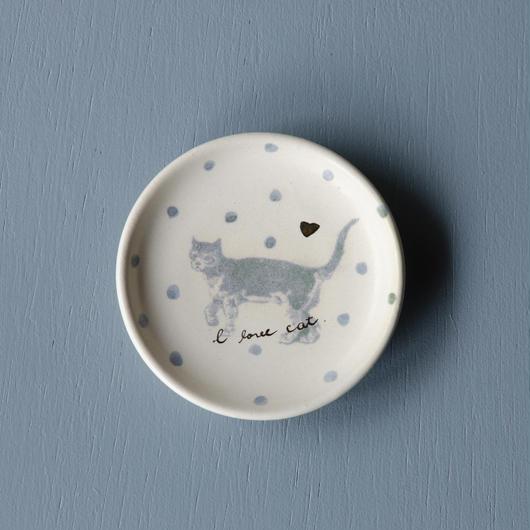 ドット猫の豆皿