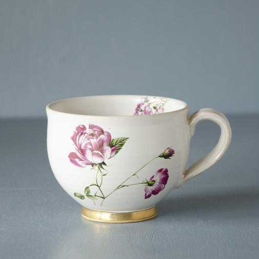 お花のマグカップ