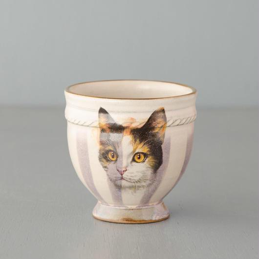 ミケ猫の湯のみ
