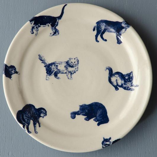 猫柄のケーキ皿