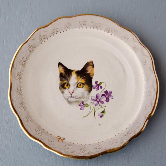 ミケ猫の小皿