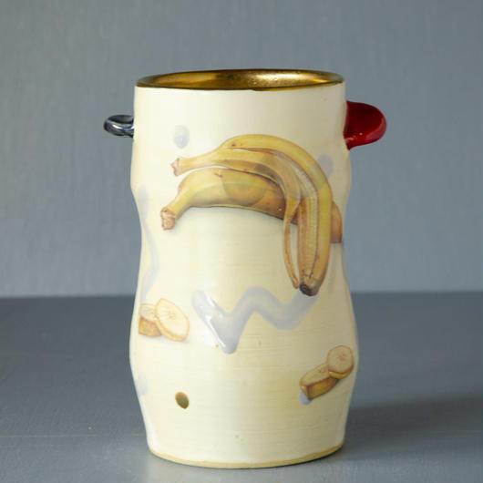 トロピカルシリーズ バナナとチワワの花器