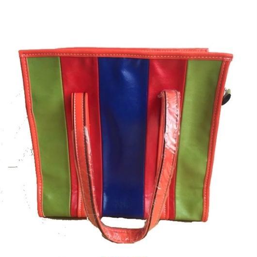 ストライプトートバッグ