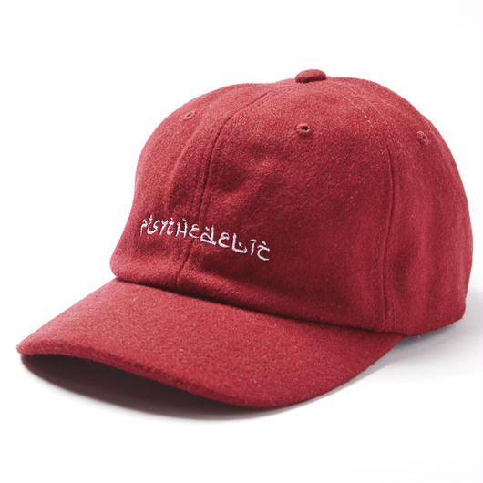 PSYCHEDELIC WOOL CAP / RED