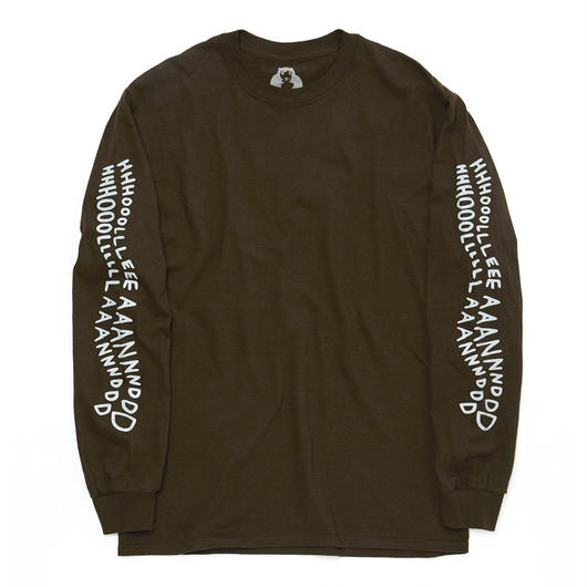 HHH LONGSLEEVE T-SHIRT / BROWN