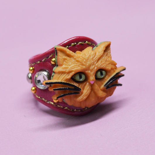 LEATHER RING (レッドキャット)