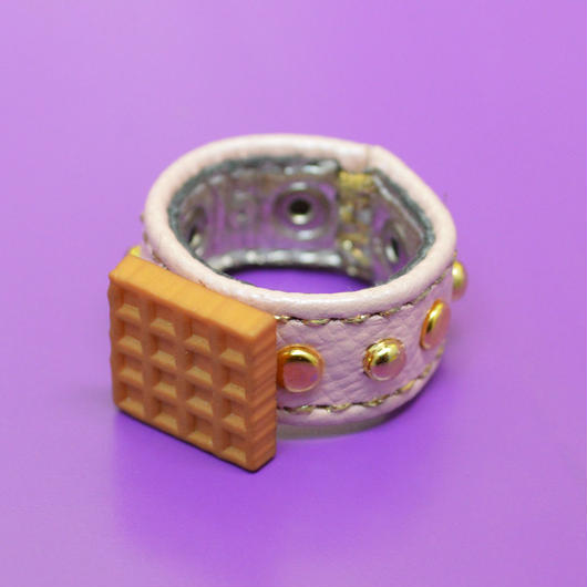 LEATHER RING (ワッフル)