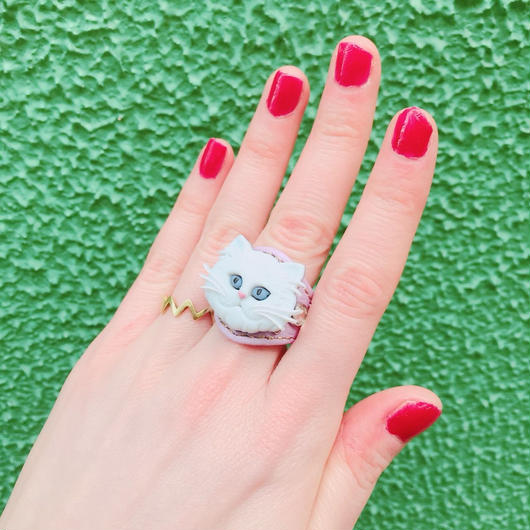 LEATHER RING (ホワイトキャット)