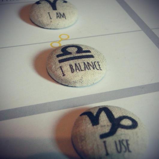 焼き菓子風★ #12サイン理念マグネット 天秤座の理念  I Balance