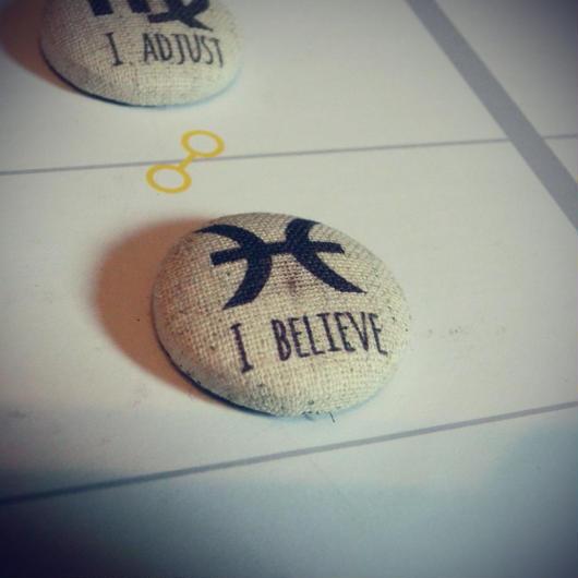 焼き菓子風★ #12サイン理念マグネット 魚座の理念  I Believe