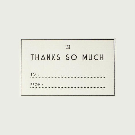 MASSAGE LABEL (Set of 5) / THANKS SO MUCH