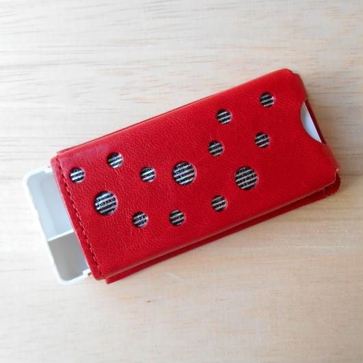 本革製 フリスクケース ※旧サイズ(ケース付) 赤 ホログラム