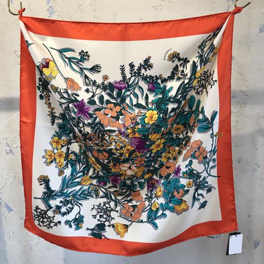 manipuri18 silk scarf FLOWER  88×88