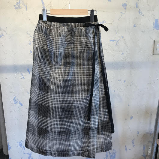 AMBELL   BRIGHT CHECK LAYERED SKIRT